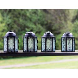 Decorative 4pc Mini Clear Candle Lanterns