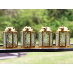 Decorative 4pc Mini Gold Candle Lanterns