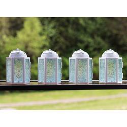 Decorative 4pc Mini White Candle Lanterns