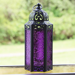 Decorative Purple Candle Lanterns