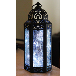 Clear Candle Lanterns with LED Fairy Lights